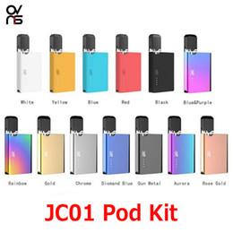 Original OVNS JC01 Starter Kits 400 mAh Vape Box Mods Pods Vaporizador com 0.7 ml de cerâmica cartucho de bobina para óleo grosso Kit 100% autêntico venda por atacado