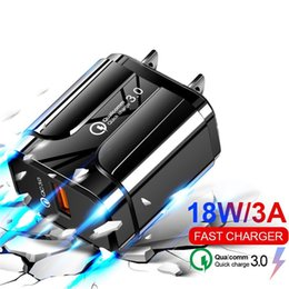 android tablet pc charger Australia - Fast Quick Charger QC3.0 Eu US Wall charger 5V 3A 9V 2A Power Adapter For Samsung Android phone Tablet pc Mp3