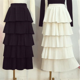 358af1aa0c 2019 Hot New Arrival Korean Style Woman Long Skirt Sweet Layer Skirt  Elastic Waist Princess Ladies Skirts Free Shipping Y19043002