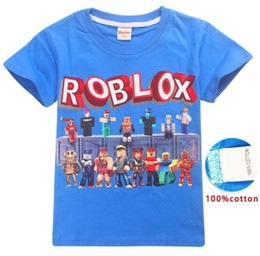 99124607 Roblox Game T-shirts Boys Girl Clothing Kids Summer 3D Funny Print Tshirts  Costume Children Short Sleeve Clothes For Baby ere66