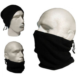 Chinese  3 in 1 Balaclava Ski Cap Outdoor Riding Faux Wool Scarf Pullover Multifunction Winter Headwear Warm Mask Men's manufacturers
