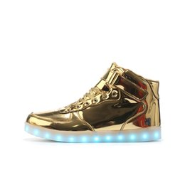 China Kids Sneakers Fashion Glowing Sneakers Led Shoes USB Charger Light Up For Kids And Adults Flashing Christmas Halloween cheap kids flash shoes suppliers