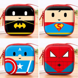 Cartoon Wallets For Girls Australia - 1pcs Women Silicone Coin Purse Cartoon Superman Spiderman Round Headset Bag Samll Change Purse Wallet Pouch Bag For Kids Girl Gift