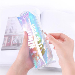 $enCountryForm.capitalKeyWord NZ - TOPSTHINK BTS Laser pencil pouch silver PU pencil bag with tassels fashion case for young boys and girls
