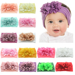 lotus hair Australia - Nishine Newborn Toddler Baby Girls Head Wrap Double Lotus Flowers Knot Turban Headband Hair Accessories Birthday Gifts for 0-3Y