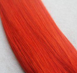pure human hair extensions NZ - Red Color Pure Color Virgin Straight Hair Extensions 10-30 Inchs 100% Brazilian Human Hair Weave Bundles