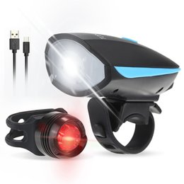 $enCountryForm.capitalKeyWord NZ - Tomshine Water-resistant Super Bright LED Bike Bicycle Front Light Tail Light Loudspeaker 6 Lighting Modes USB Rechargeable