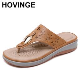 $enCountryForm.capitalKeyWord Australia - HOVINGE flip flop big size platform sandals chinese beach slides brown women wedge leather plus wide fit shoes