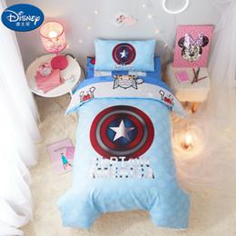 $enCountryForm.capitalKeyWord Australia - 3Pcs Baby cot Bedding Sets Captain bag pillowcase sheet Cartoon Quilt Cover children boy girl 60x120cm cot