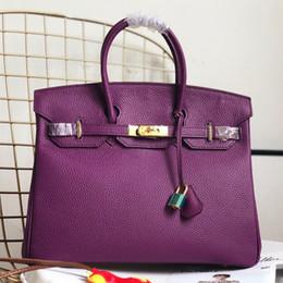 $enCountryForm.capitalKeyWord Canada - Classic Top Handle bags Women Padlock Handbag Platinum Bag Silver Gold Lock Hardware Tote Female Cowhide Genuine leather