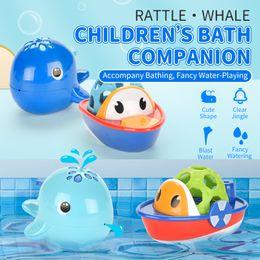 Vente en gros TW2004065 jouets pour le bain poisson natation Hochet 12M + la poignée de main cadeau eau-PLAYING fixé pour baignoire baignoire bébé