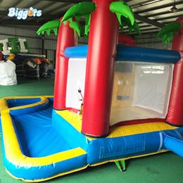 d50a10f1a Casa inflable de la despedida del tobogán acuático de la fábrica china con  el juego de los niños de la piscina