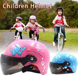 Discount kids motorcycle - 3-9 Year Old Children Motorcycle Helmet Sports Cycling Kids Motorcycle Helmet EPS Material For Multi Pattern Anti-Vibrat