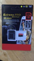 Toptan satış En son 128 GB 256 GB 64 GB 32 GB SD kart Mikro TF kart Adaptörü Blister Ile Jenerik Perakende Paketi