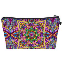 3d fashion bag online shopping - Bohemia Mandala Floral D Print Cosmetic Bags Women Travel Makeup Case Women Handbag Zipper Cosmetic Bag Flower Printed Bag