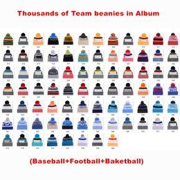 $enCountryForm.capitalKeyWord Australia - Winter Cotton Beanies All Team Football Pom Pom hats Men Women Winter Hats Beanies With Cheap Sports Skull Caps for Sale