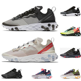 Wholesale React Element running shoes for men women white black SOLAR RED Oribit Moss mens designer breathable sports sneaker size