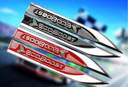 Cruze Body Australia - 3D Metal ECOBOOST Car Fender Emblem Badge Sticker Decal For Ford Focus Chevrolet Cruze SRT