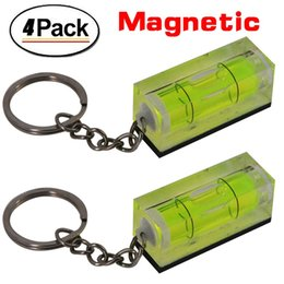 Wholesale Mini Acrylic Keychain Block Level Vial Replacement Level Bubble Level magnetic Pack of green