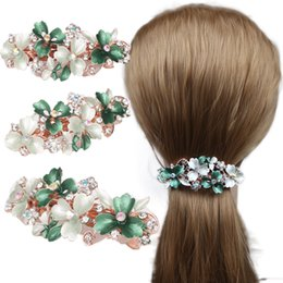 Painting Faces Australia - Fashionable Alloy Set With Water Drill, Hand-Painted Oil Dripping Green Leaf Hair Clips, Korean Version Of Versatile Hair Accessories