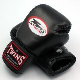 venda por atacado 8 10 12 14 oz gêmeos luvas chute luvas de boxe couro pu sanda sandbag training preto luvas de boxe homens mulheres guantes muay thai