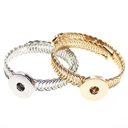 snap button jewellery wholesale NZ - 10pcs Gold Silver 2 Colors Direct Selling Sterling Jewellery Bracelet For Woman Snap Button Jewelry (Fit 18mm 20mm snap)