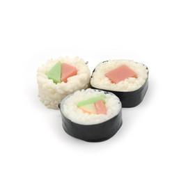 $enCountryForm.capitalKeyWord UK - Simulation Japanese sushi rolls 4cm laver boarding key chain pvc food Cell Phone Straps Charms gift wholesale FREE SHIPPING