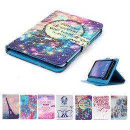 Lenovo tabLet cases covers online shopping - Cartoon Printed Universal inch Tablet Case for Samsung Galaxy Tab Plus P6210 P6210 Cases kickstand Flip Cover Cases Bags