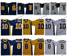 aaron rodgers jersey xl UK - New 16 Jared Goff California Golden Bears College Football Jerseys Vintage 8 Aaron Rodgers 10 Marshawn Lynch University Football Shirts