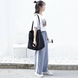 shopper bag tote Australia - Canvas Fashion Shopping Bag Shopper Girl Handbag Elegant Plain Lady Shoulder Bag Totes Purse crossbody bags for women 2019