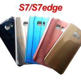 $enCountryForm.capitalKeyWord Australia - New S7 Edge Glass Battery Back Cover for Samsung Galaxy S7 G930F S7Edge G935F Back Door Battery Housing Adhesiver Sticker