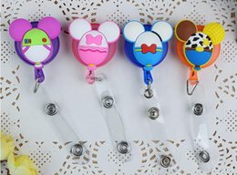 Wholesale Retractable Badge Reel High quality silicone Student Nurse ID Name Card Badge Holder Office Supplies