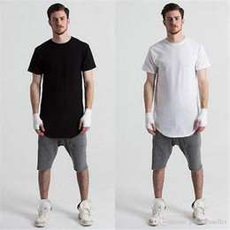 Discount mens fashion t shirt trends Trend Pure Color Circular Arc Cotton Tees Summer Tops Causal Mens Clothing Fashion Designer Mens T Shirts Summer
