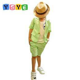$enCountryForm.capitalKeyWord Australia - Retail Summer Children Clothing Set Korean style boys suit baby& kids clothes set coat+pants 2 pcs outfits children wear
