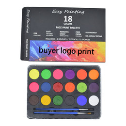 Wholesale 18 Face Paint Kit for Kids Professional Quality Face & Body Paint Hypoallergenic Safe & Non-Toxic Easy to Painting and Washing