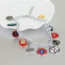 InvIsIble mask online shopping - The charm Bracelet Shield Iron Man Mask Bracelets for Women Men Jewelry