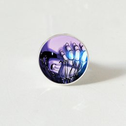 $enCountryForm.capitalKeyWord NZ - Undertale Game Gamer Gaming sliver color rings Ghost Video Game Glass Cabochon ring Art Gifts