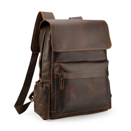 Cheap bag faCtory online shopping - Handmade Anti Theft Laptop Backpack School Leather Backpack Bags Hiking Genuine Leather Bags for Men with Factory Cheap Price