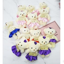 $enCountryForm.capitalKeyWord Australia - Mini Plush Conjoined Bear Toys Pendant PP Cotton Soft Stuffed Naked Bears Toy Bouquet Doll Holiday Gift 12CM