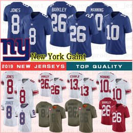 New wiNes online shopping - 26 Saquon Barkley New Jerseys York Daniel Jones Giant Jerseys Eli Manning Evan Engram Football Jerseys Shepard Phil Simms New