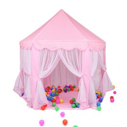 tent castle NZ - Tents Castle Foldable Girl Playhouse Princess Ball House Children Playing Sleeping Toy Tent Indoor Outdoor Portable Tent Y40