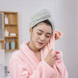 Radient Microfiber Quick Drying Hair-drying Towel Bowknot Coral Velvet Bath Cap Strong Water Absorption Hair Dry Shower Bath Hat Tool Volume Large Bath