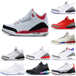 Wholesale Top Black Cement Men Basketball Shoes Chlorophyll Grateful Free Throw Line International Flight charit mens Sport Fire Red III Sneakers