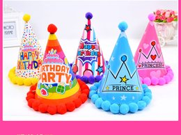 $enCountryForm.capitalKeyWord Australia - Birthday Caps Manufacturer Direct Sale Of Birthday Cap Hairball Adult Baby Birthday Party Dressing Material Wool Ball Hat
