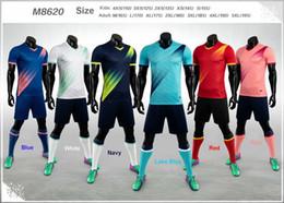 Toptan satış Boş 19-20 Yetişkin Çocuk Futbol Jersey Takımı Seti Özelleştirilmiş Futbol Takımı Eğitim Üniformalar Seti camiseta de futbol M8620