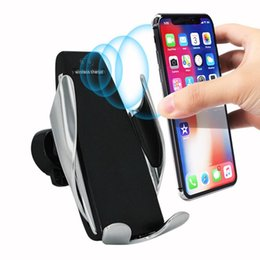 Discount phone sensor - Fast Wireless Car Charger Automatic Infrared Sensor Easy Operation Auto-Clamp Car Smart Phone Mount Air Vent Holder Char