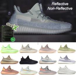 Glow liGht shoes online shopping - Shoes Women Men Running Shoe Designer Sneaker Citrin Cloud White Reflective Non Reflective Glow Synth Antlia Kanye West Sport Runner Fashion