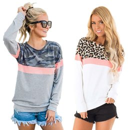 $enCountryForm.capitalKeyWord NZ - Women Leopard Hoodie Camouflage Pullover Sweater New Fashion Female Round Neck Long-sleeved Shirt
