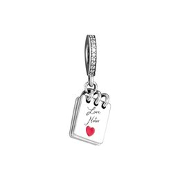 Discount note cube Love Notes Hanging Charm For Original Bracelets Sterling Silver jewelry Beads For Jewelry Making Fashion Woman Beads