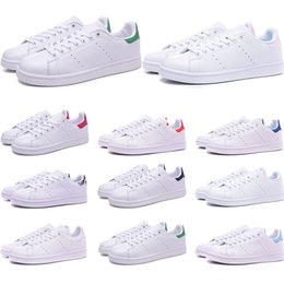 $enCountryForm.capitalKeyWord Australia - Wholesale Smith shoes for mens womens Stan designer black white red blue silver pink smith best sneakers Casual shoes size 36-45
